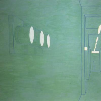 Interno Di Paesaggio, 2000, Olio Su Tela, 150x200 Cm