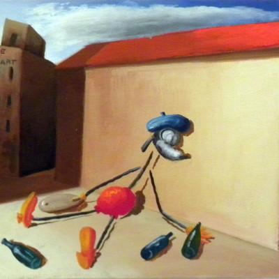 Olinsky, Pittore Fallito, 1933, Oil On Canvas, 20x30 Cm