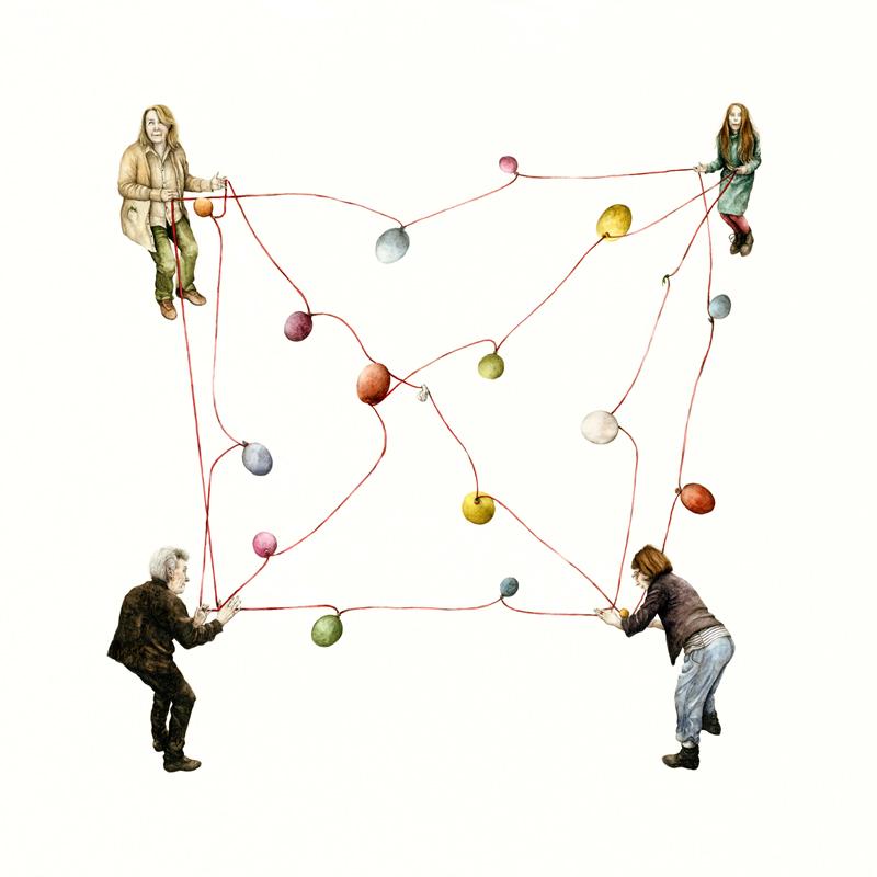Cristina Pancini, Solido, Il Pavimento Regge, 2012, Tecnica Mista Su Carta, 70x70 Cm