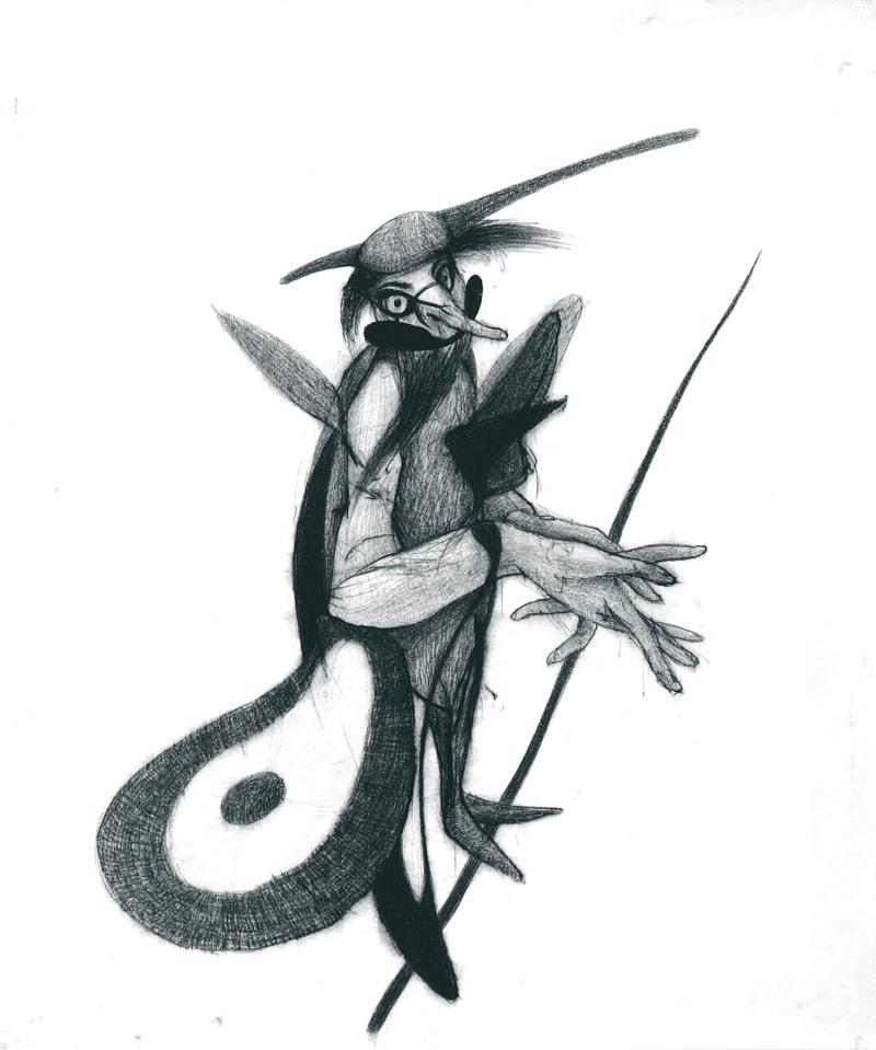 Giuliano Guatta, Un possibile risultato, 2005, pencil on paper, 89,5x75,5 cm