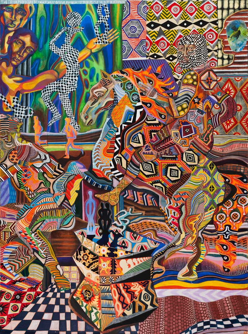 Zio Ziegler, I Trionfi, 2015, mixed media on canvas, 244×183 cm