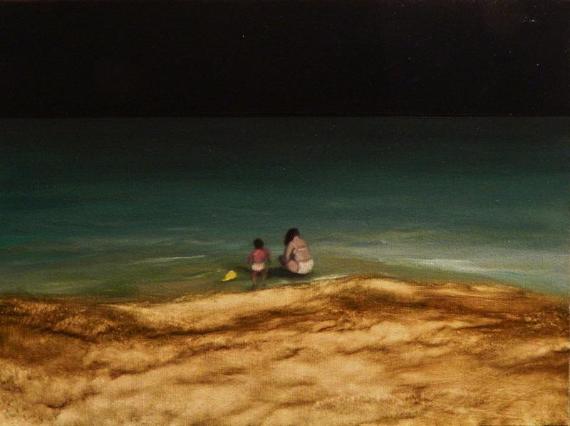 Giuliano Sale, Senza Titolo, 2012, oil on canvas, 30x40 cm