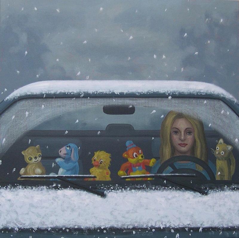 Aldo Damioli, S.T, 2011, Oil On Canvas, 40x40 Cm