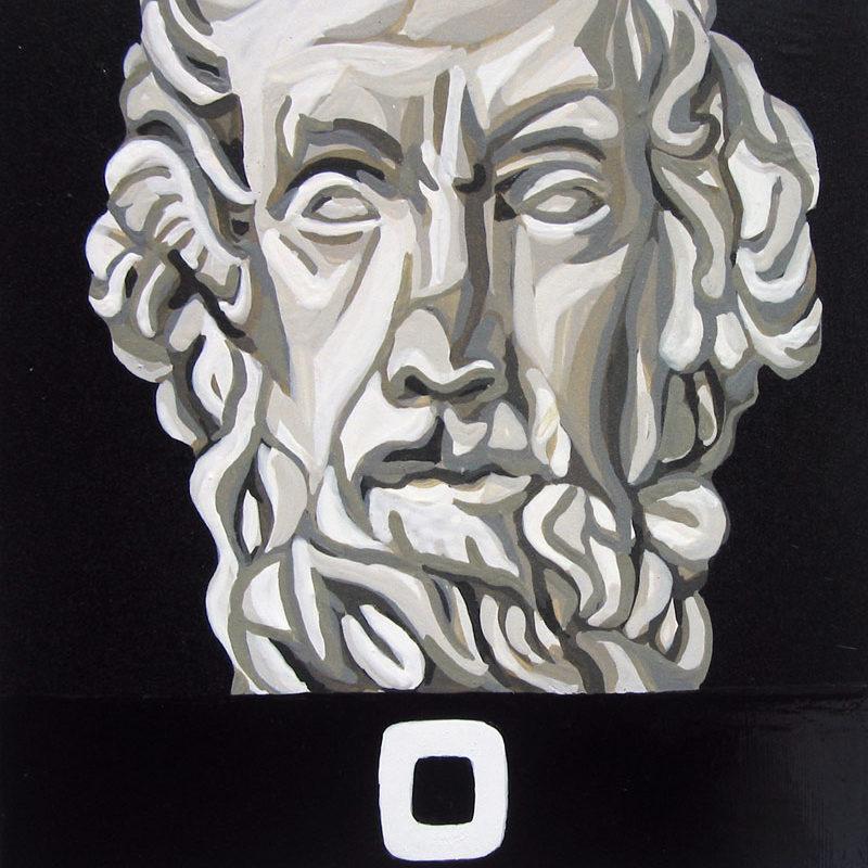 A.Mazzoni, '11, O Di Condividere Un Pensiero., Acrilico Su Calamita, 8,5×8,5 Cm