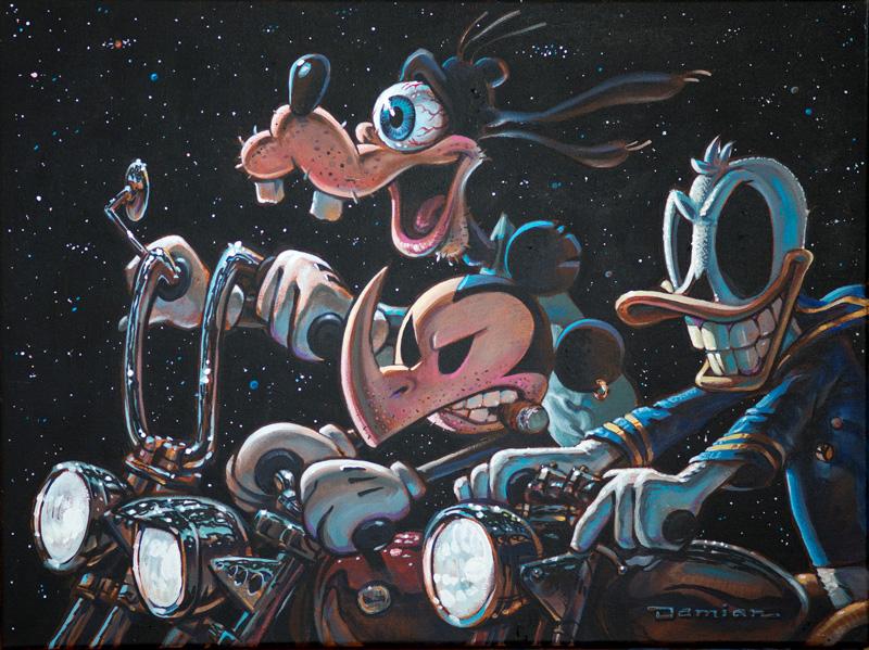 Damian Fulton, The Three Amigos Ride Again, Acrylic On Canvas, 46x61 Cm