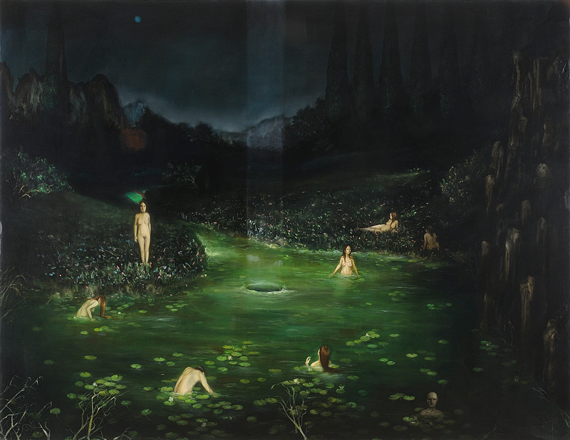 Giuliano Sale, Iyomante, 2011 Oil On Canvas, 220x170 Cm