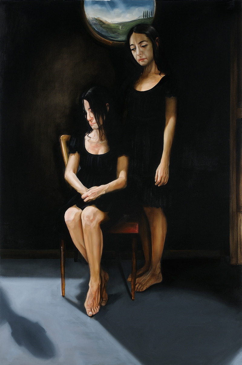 Giuliano Sale, Out Of Body Experience, 2011, Oil On Canvas, 150x100 Cm