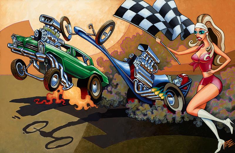 The Pizz, Famoso Raceway, 2014, Acrylic On Canvas, 56x86 Cm