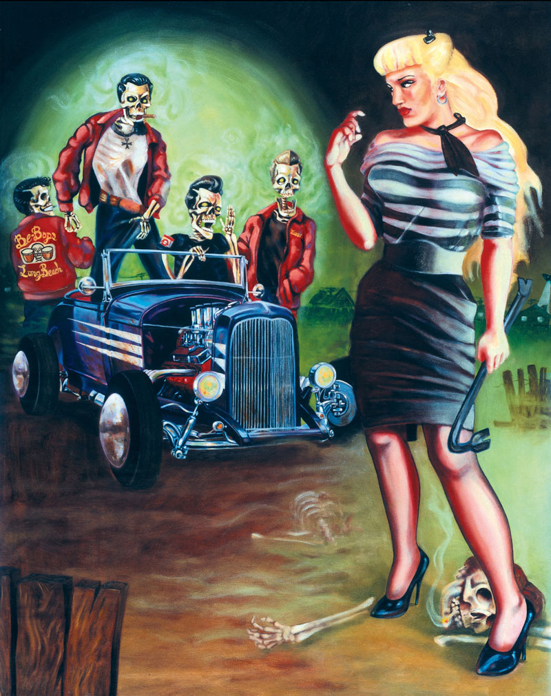 Sara Ray, The Trouble With Zombies, 2014, Oil On Canvas, 61x76 Cm