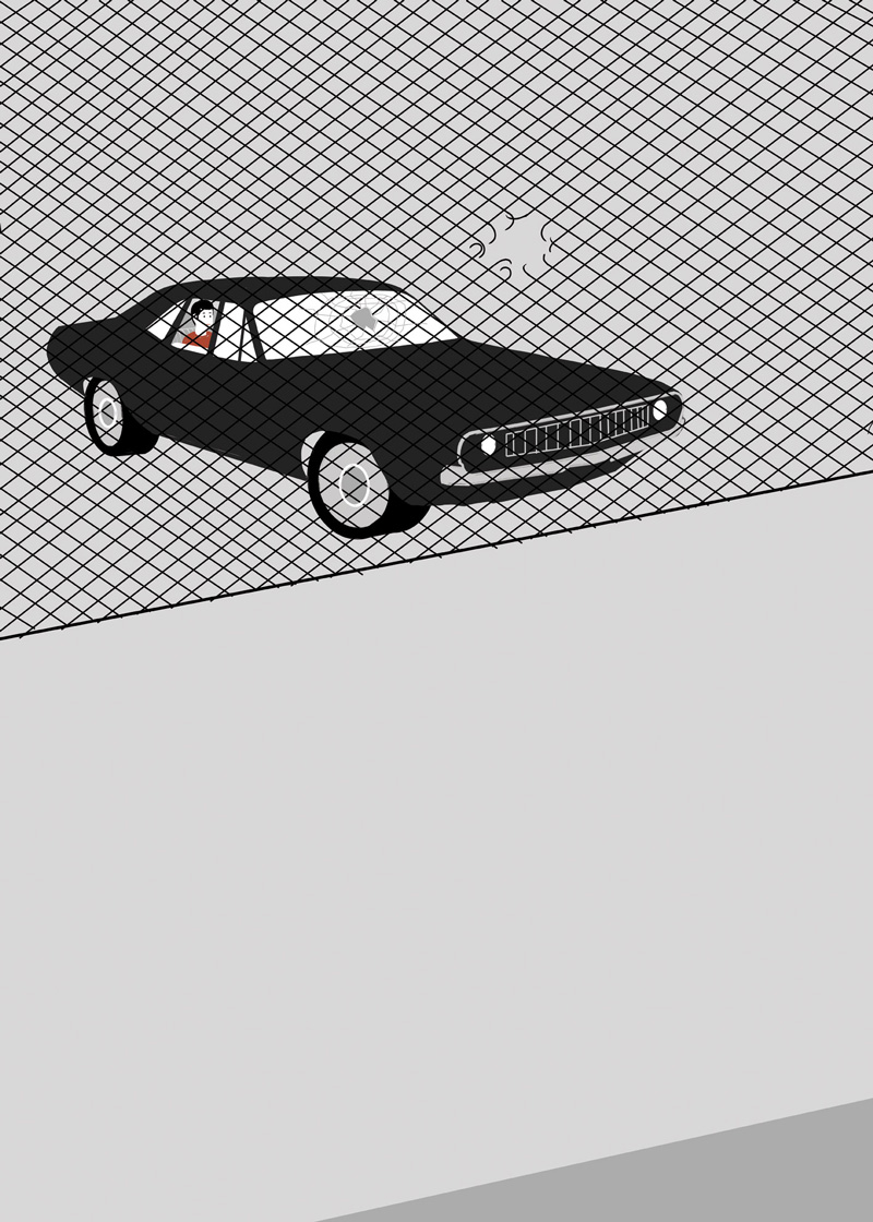 Shout, Parking Lot, 2011, Acquaforte E Acquaforte Su Carta, 50 X 70 Cm
