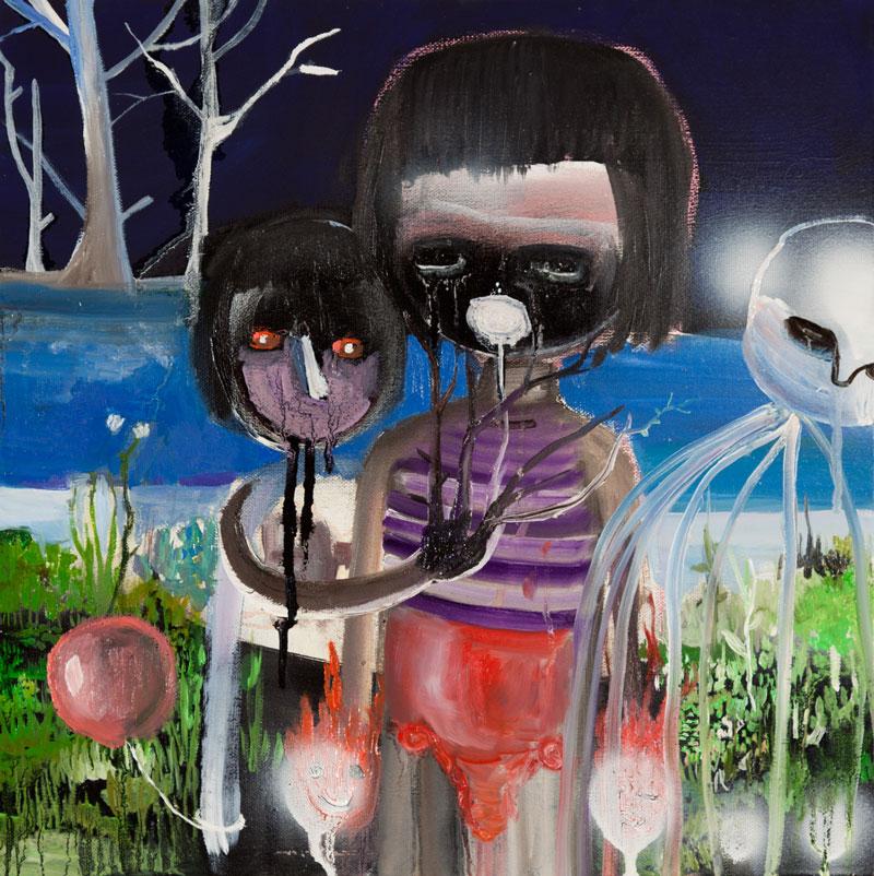 Silvia Argiolas, 3 Fasi Di Separazione, 2011, Oil On Canvas, 40x40 Cm