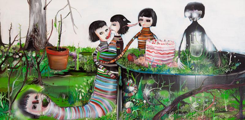 Silvia Argiolas, Non Avrei Altro Dio All'infuori Di Te, 2011, Oil On Canvas, 100x200 Cm