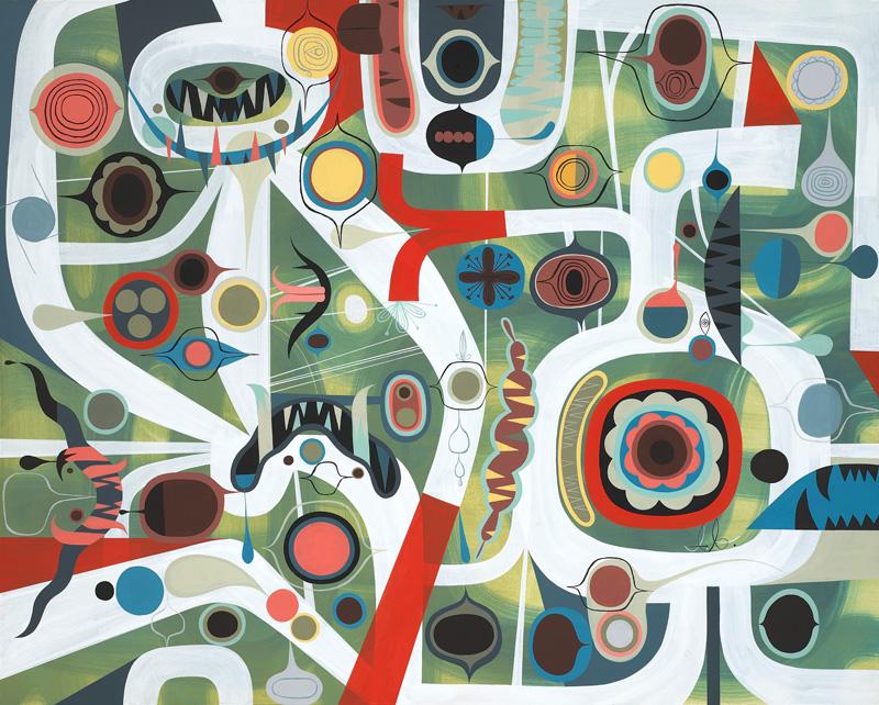 Tim Biskup, The Deep, 2010, Acrylic On Wood Panel, 61x76 Cm