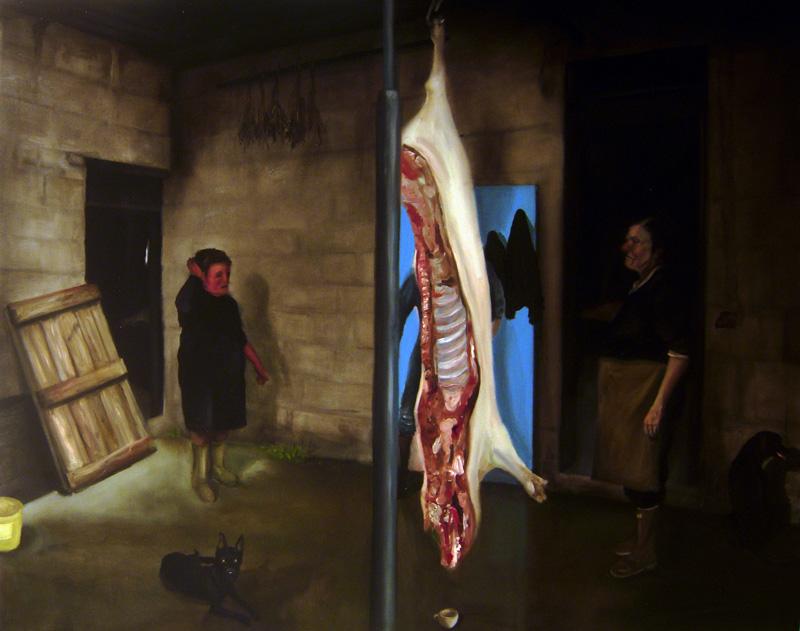Sale Pork Chop, 11, Olio Su Tela, Cm 80×100