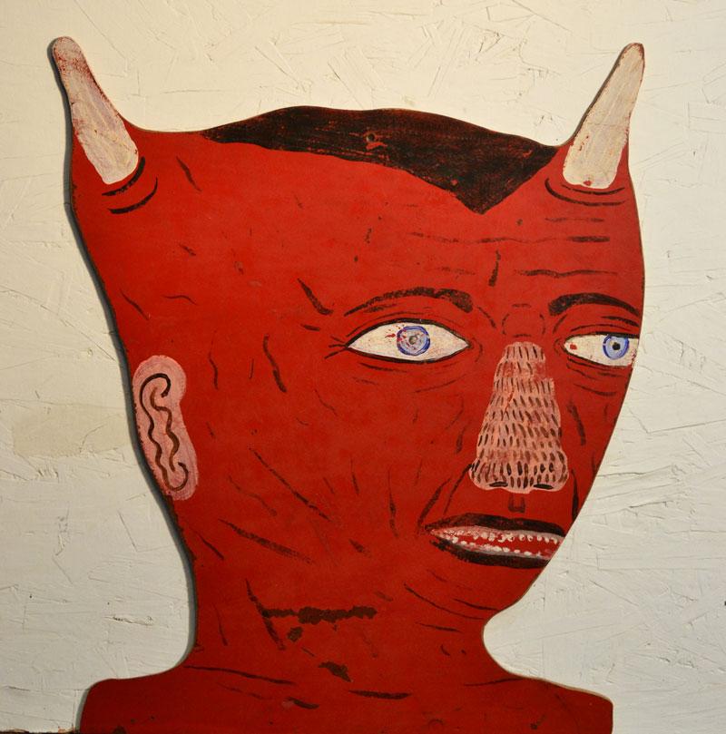 Fred Stonehouse, Devil Head, 2012, acrylic on board, 38x30,5 cm