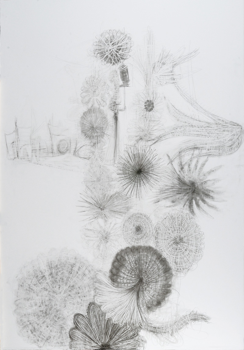 Cingolani, S.t., 2010, pencil on dibond, 247x173 cm