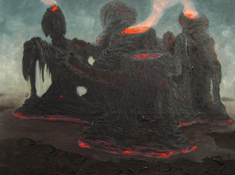 Fulvio Di Piazza, Fortino, 2009, oil on board, 15x20 cm