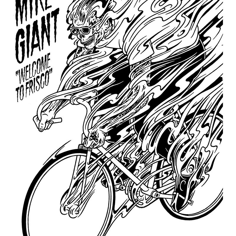 Mike Giant, Welcome To Frisco, 2010, Ink On Paper, 61×46 Cm