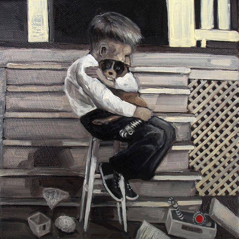 Desiderio, ROCK 10f Y series #06, 2010, acrylic on canvas, 20x20 cm