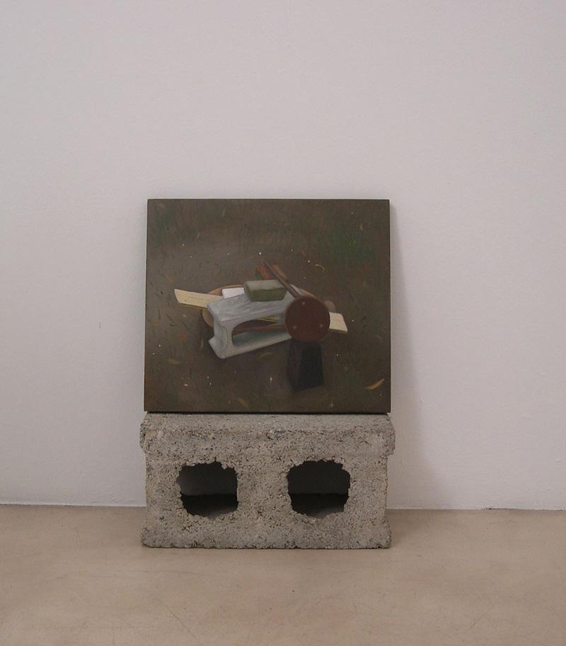 Giuliano Guatta, Astronave, 2009, oil on board, 35x40 cm