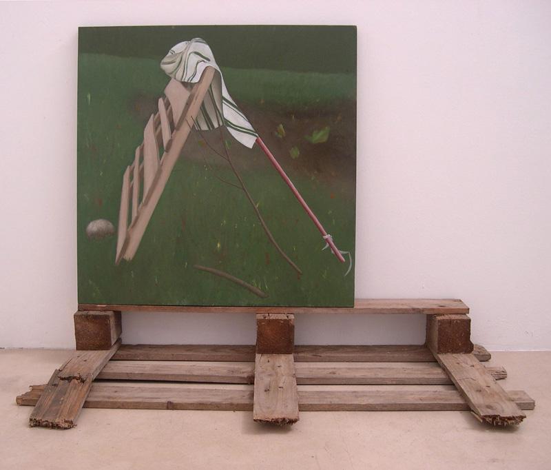 Guatta, Riparo Di Fortuna,70×70, 2009, Olio Su Tavola