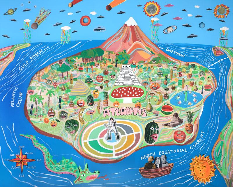Atlantis (Tutti I Frutti), 09, Tecnica Mista Su Tela, Cm 250X200