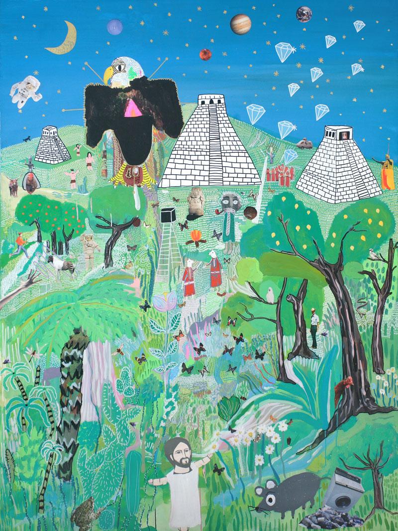 Laboratorio Saccardi, Il masterizzatore, 2009, mixed media on canvas, 150x200 cm