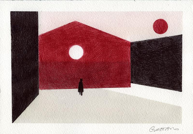 Alessandro Gottardo, Senza Titolo, 2015, pen on paper, 18x26 cm