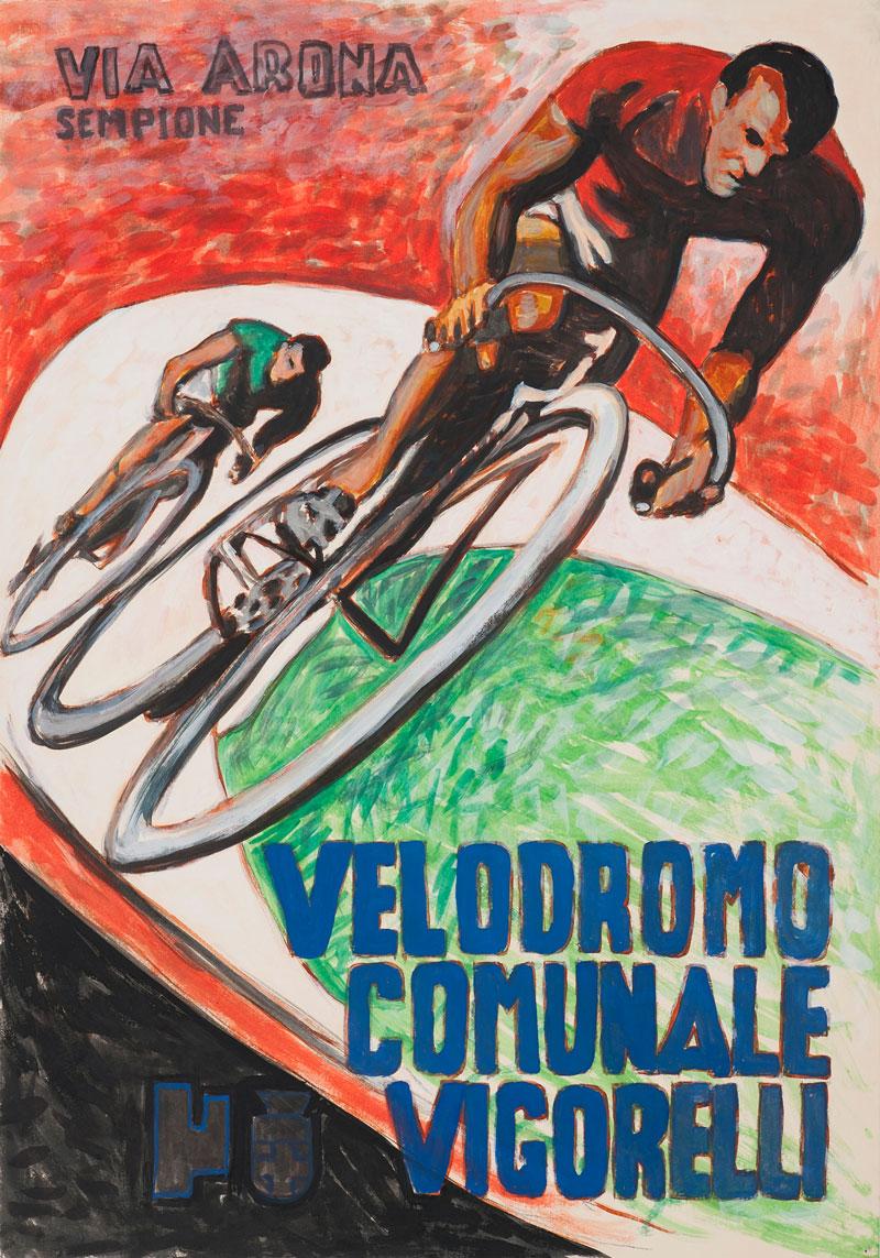 Andrea Salvino, Vigorelli, 2015, tempera on paper, 100x70 cm