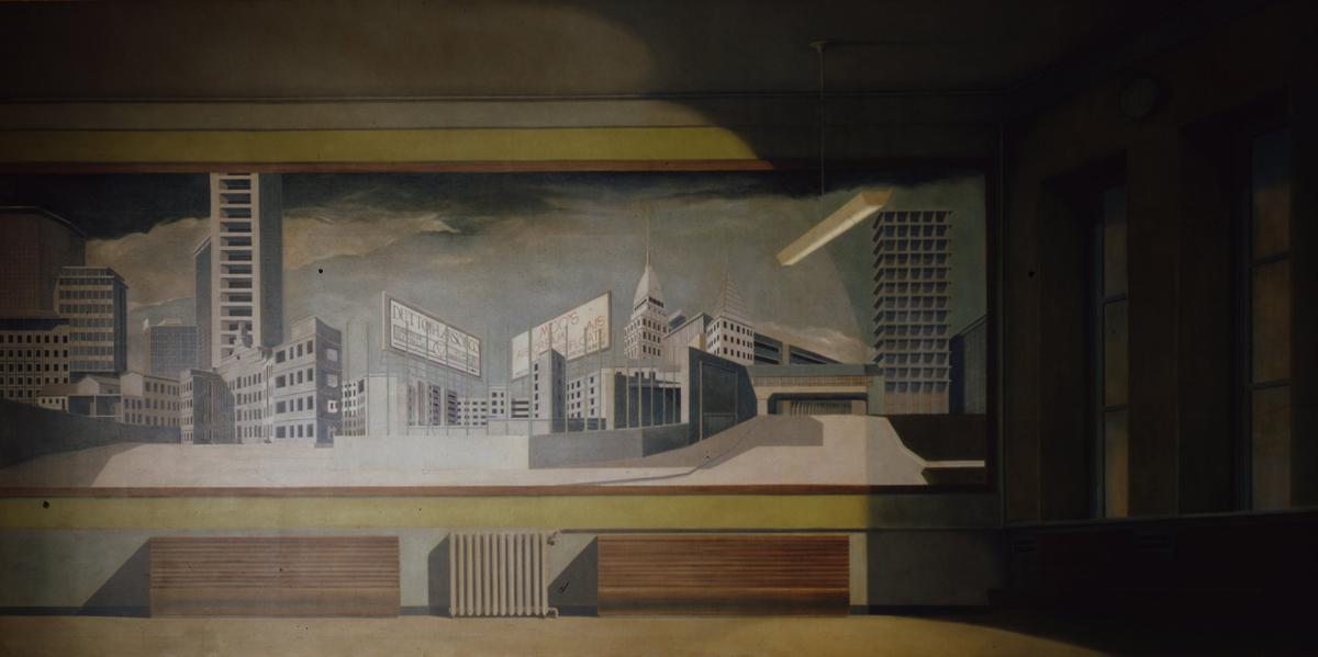 Arduino Cantafora, La Città Banale, 1980, Olio Su Tela, 200×400 Cm