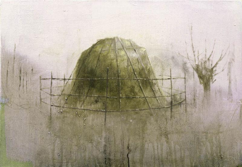 Francesco De Grandi, Covone, 2007, olio su tela, 35x50 cm