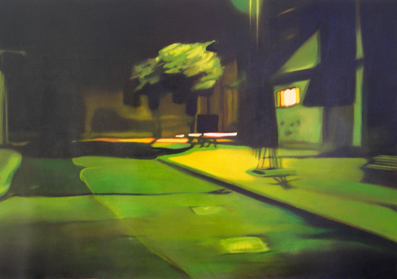 Francesco Lauretta, Paesaggio Nero II, 2007, oil on canvas, cm 50x70