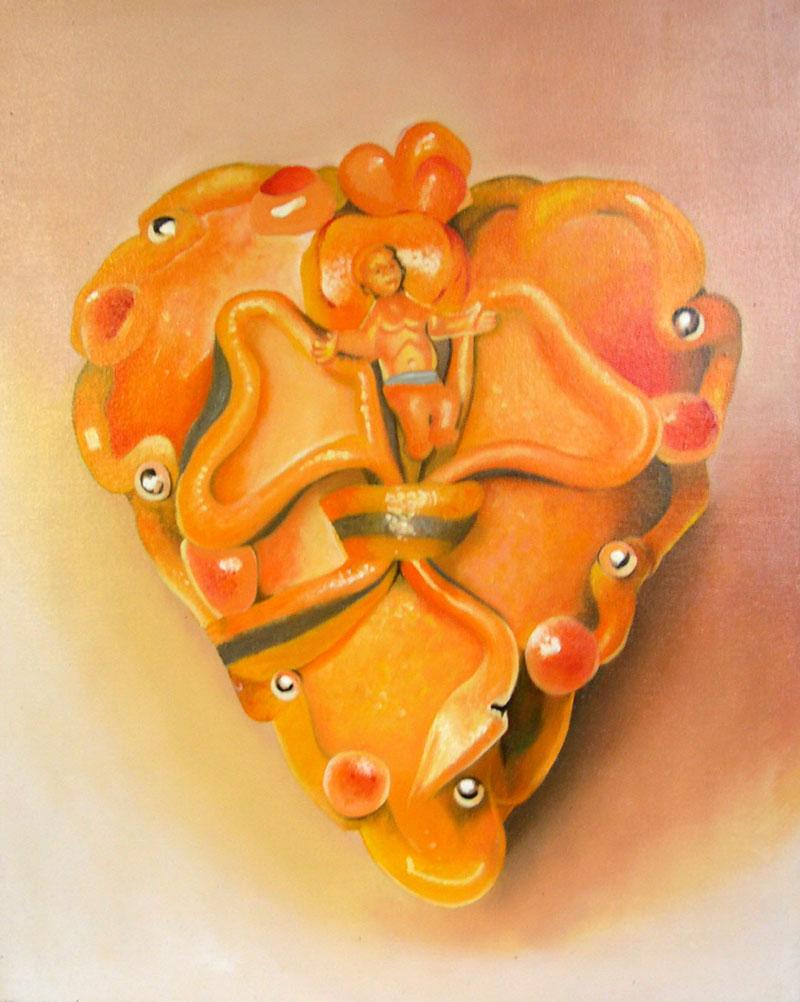 Francesco Lauretta, Cassata, 2004, olio su tela, 50x40 cm