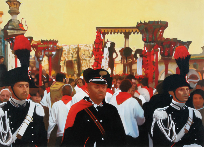 Francesco Lauretta, Giovedì Santo, 2007, oil on canvas, cm 50x70