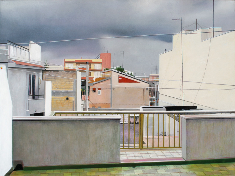 F. Lauretta, Geometrile, 2003, oil on canvas, cm 70x93