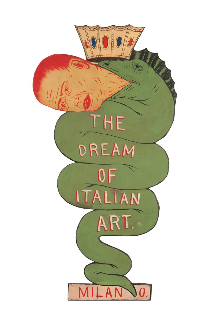 Fred Stonehouse, Dream of Italian Art, 2015, acrylic on plywood, 120x65 cm