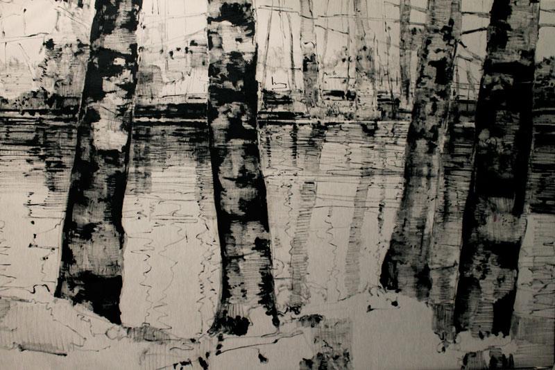 Giovanni Frangi, Porta Venezia, 2015, olio su tela, 200x300 cm