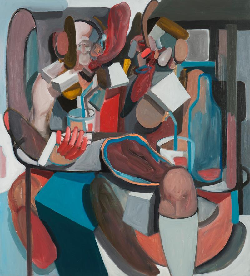 Giuliano Sale, Salt Peanuts. Discorsi Importanti al Capolinea, 2015, oil on canvas, 100x90 cm