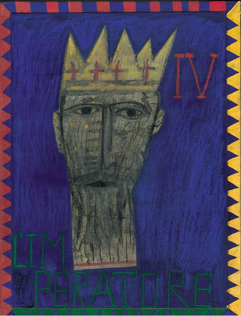 IV - Mimmo Paladino, L'Imperatore, cm 40x30, pencils on paper