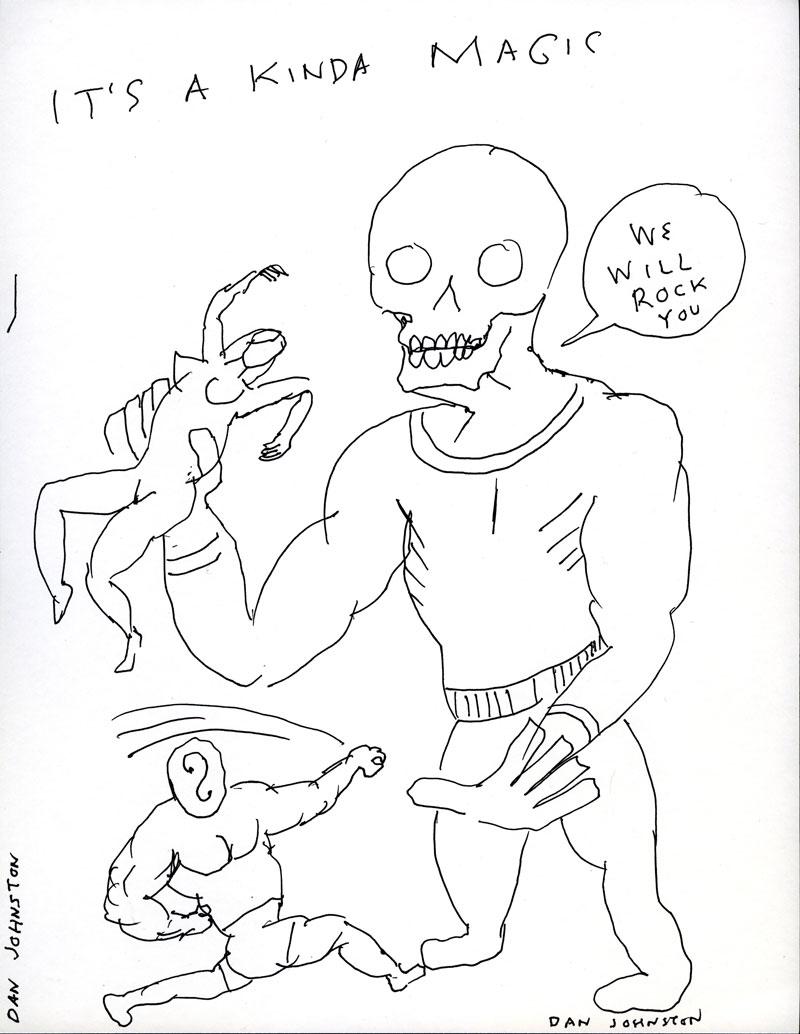 Daniel Johnston, It's a kinda magic, 2005, pen and marker on paper, 28x21,5 cm