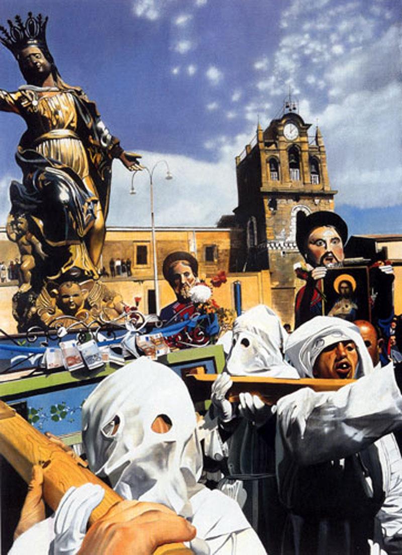 Francesco Lauretta Matrimia, 2002, olio su tela, cm 140x100