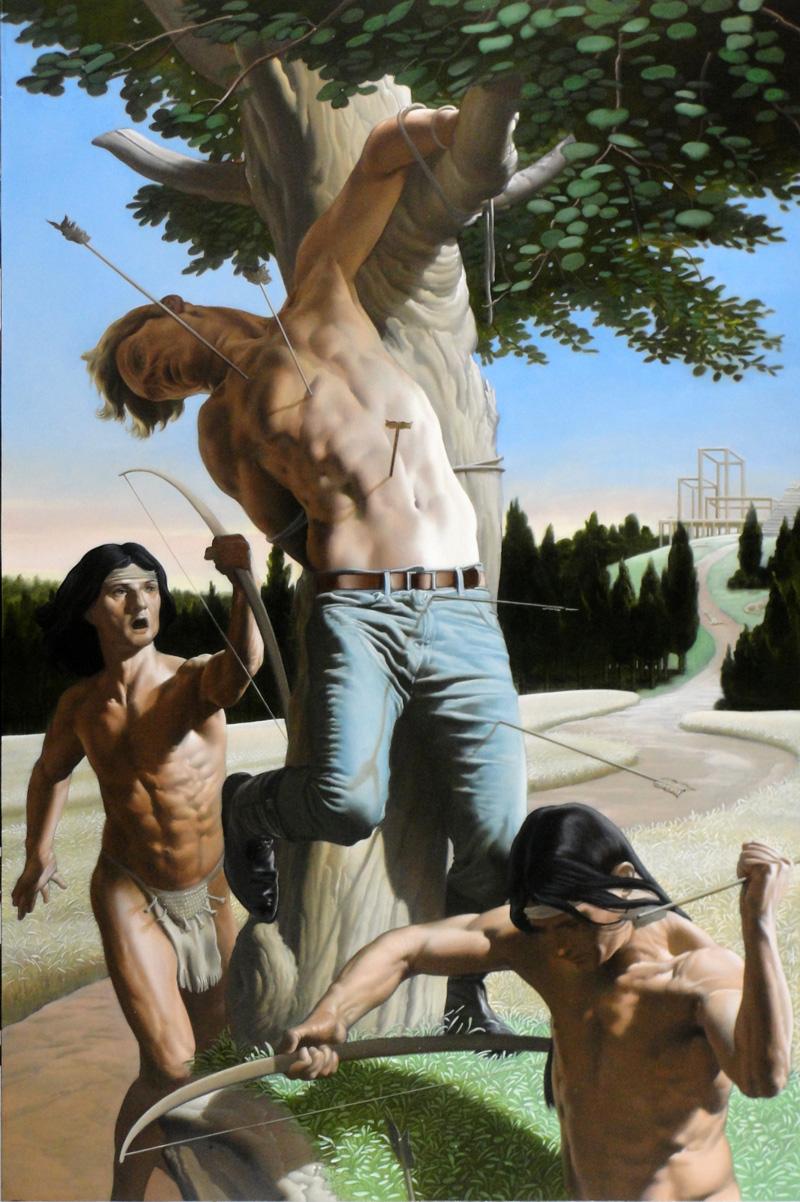 Nicola Verlato, The settler, 2015, oil on plywood, 91x61 cm