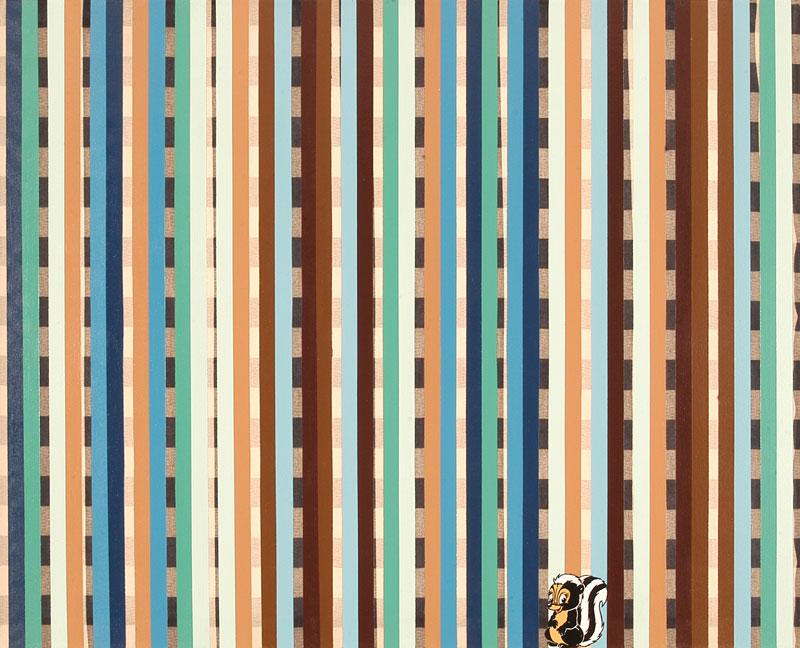 Patrick Hamilton, Magic Cover Painting-155, 2005 Enamel And Acrylic On Fabric, 80x100 Cm