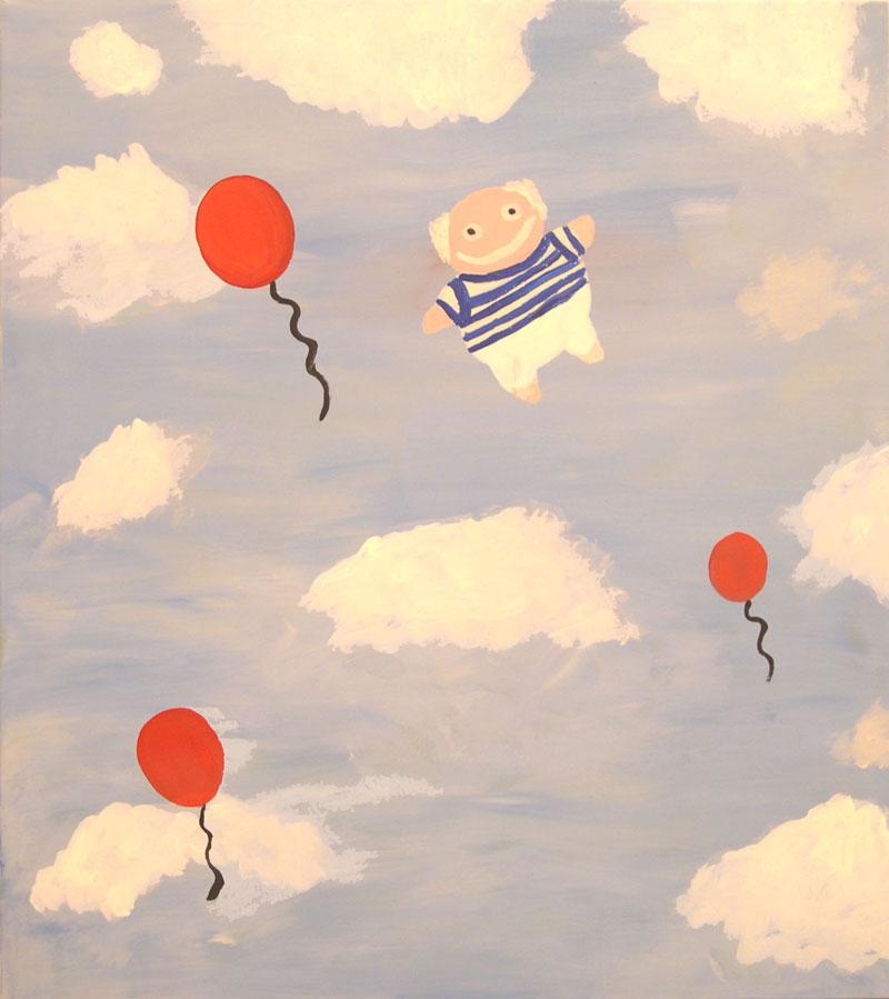 Laboratorio Saccardi, Picasso in the sky, 2005, acrylic on fabric, 80x90 cm