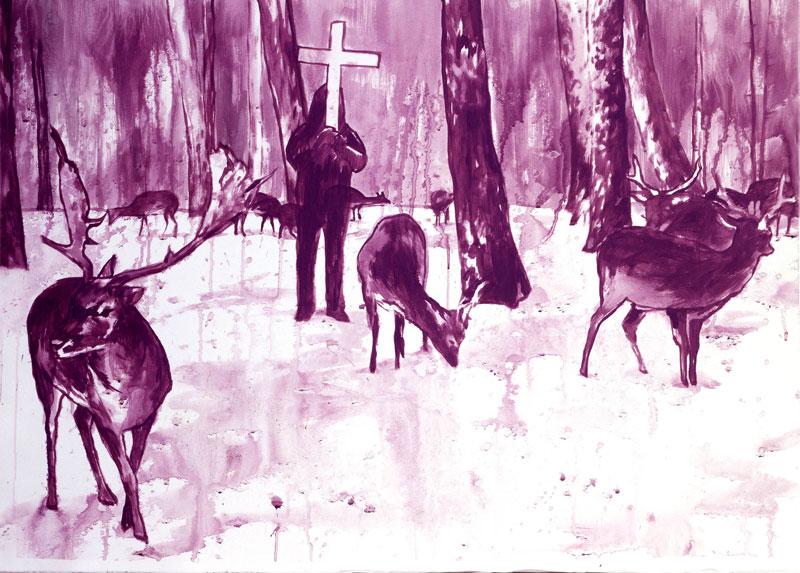 Luigi Presicce, ST, 2006, acrylic on paper, 80x100 cm
