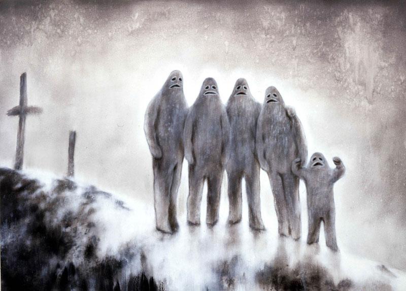 Luigi Presicce, Souvenir 05, acrylic on canvas, 100x140cm