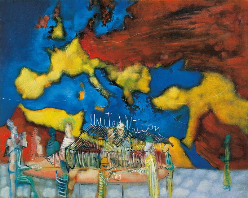 Marco Cingolani, Real Estate (circus), 2007, oil on canvas, 80x100 cm