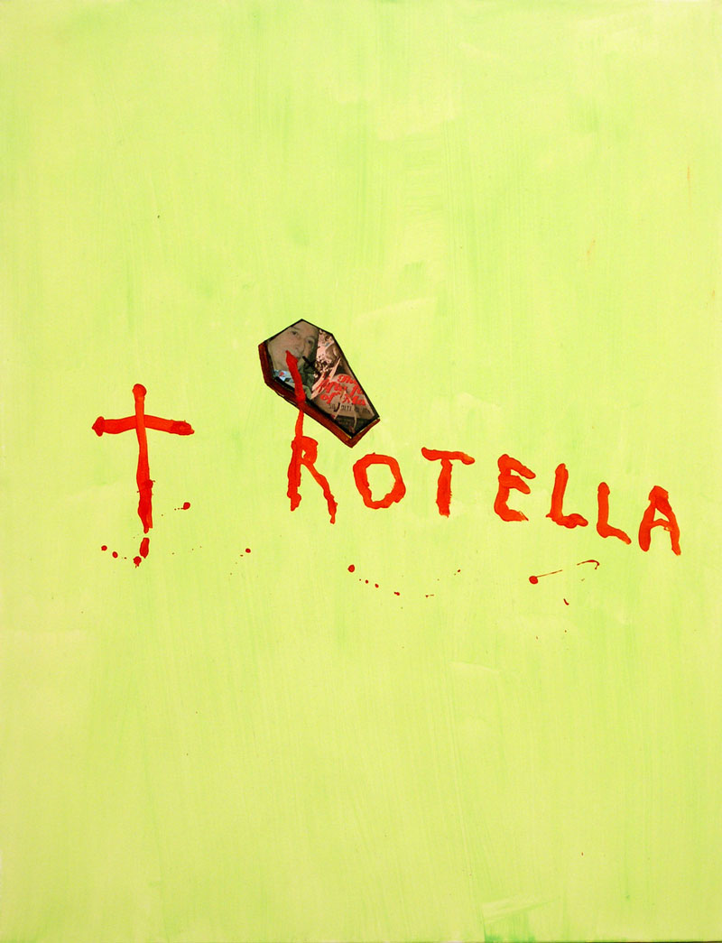 Laboratorio Saccardi, Rotella is Dead, acrylic on fabric, 70x90 cm