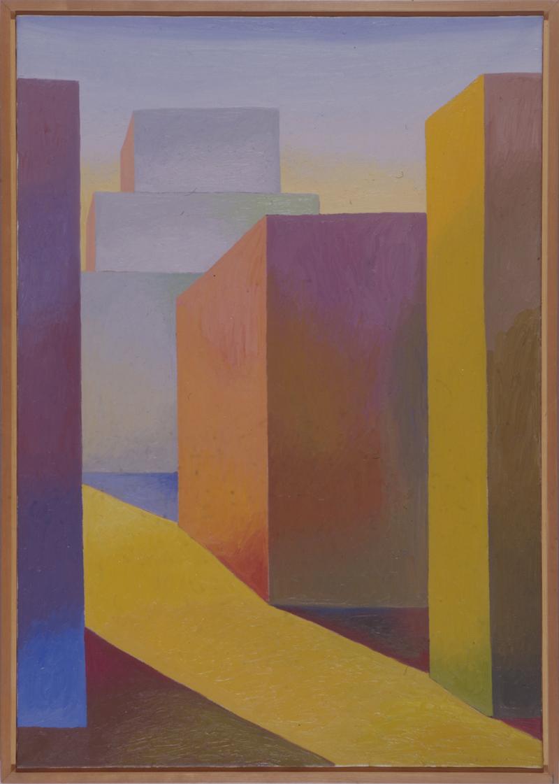 Salvo, Paesaggio Geometrico, 1982, olio su tela, 100×70 cm024