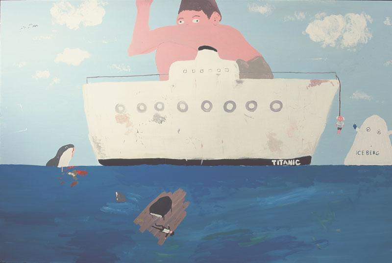 Laboratorio Saccardi, Titanic, 2005, acrylic on canvas, 120x180 cm